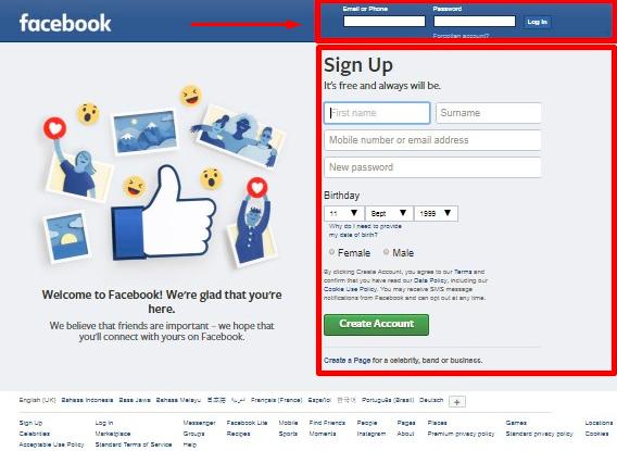 Facebook Email Logiin