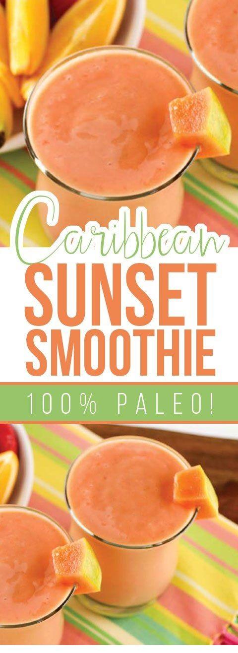 Paleo Caribbean Sunset Smoothie