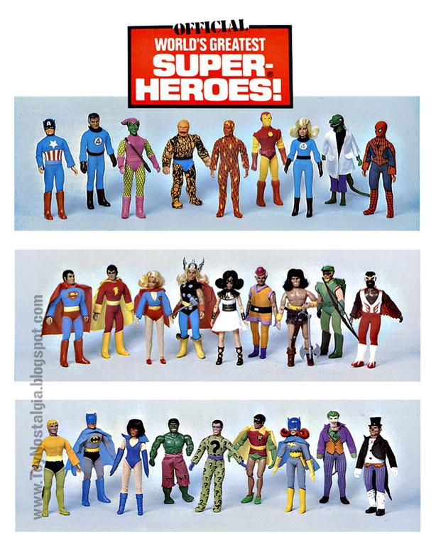 Mego Catálogo DC - MARVEL   (MEGO - World's Greatest Super Heroes!)
