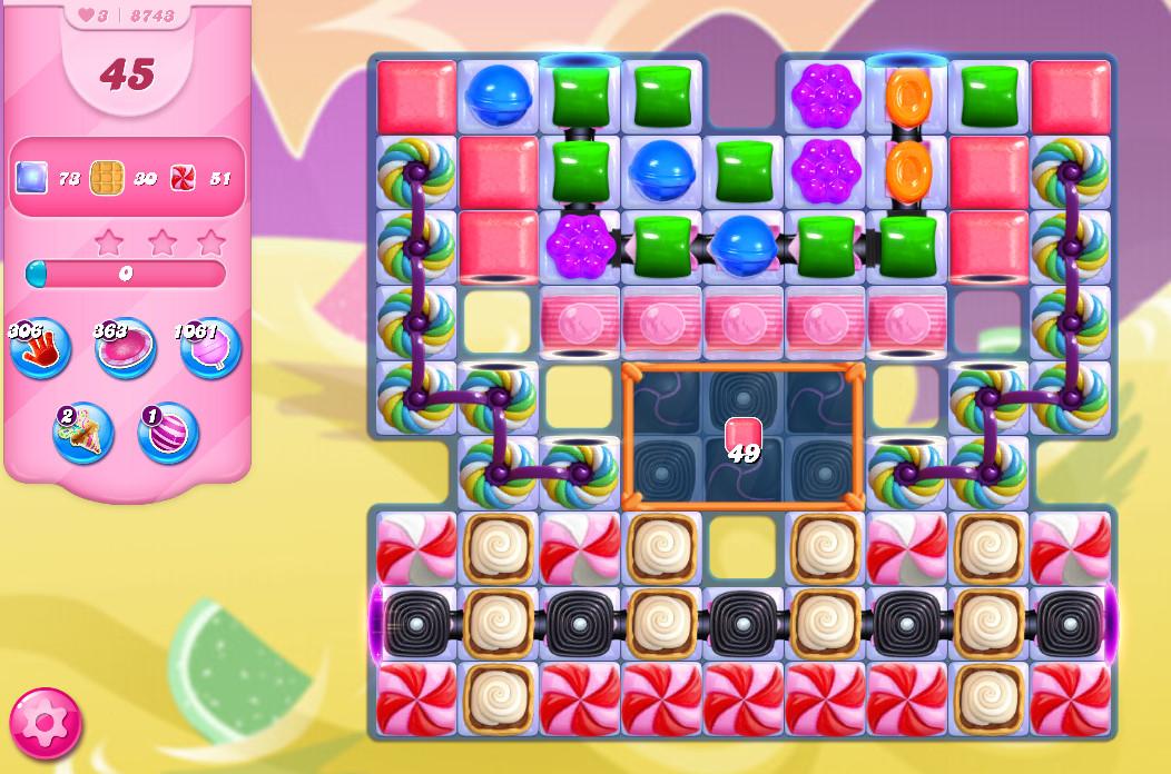 Candy Crush Saga level 8743