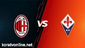 نتيجة مباراة ميلان وفيورنتينا اليوم بتاريخ 21-03-2021 في الدوري الإيطالي