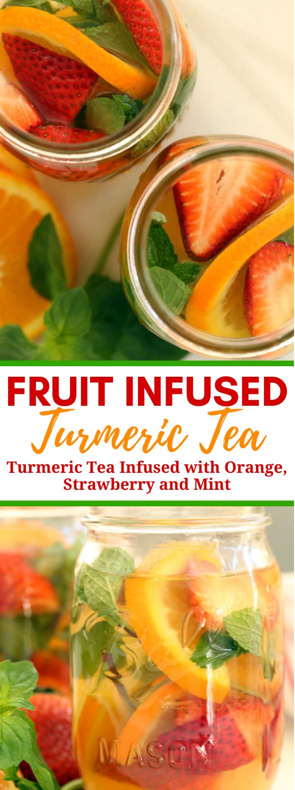 FRUIT INFUSED TURMERIC TEA #detox #healthydrink