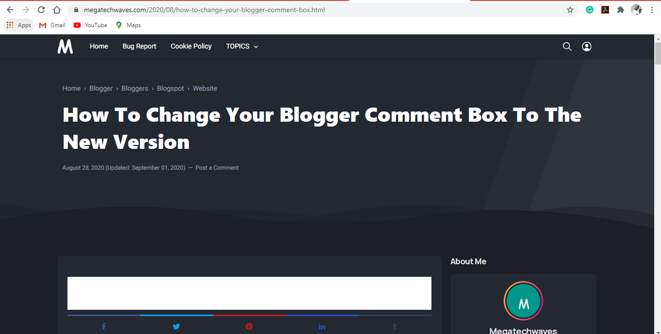 How to install a breadcrumb  on blogger