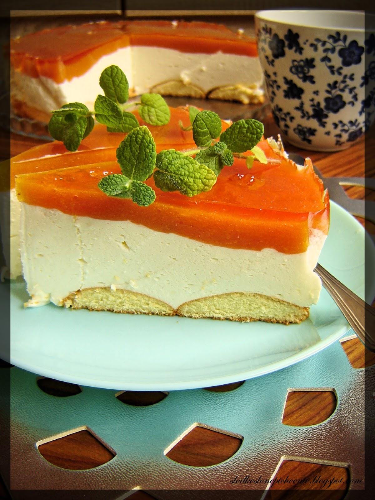 Ciasto z musem brzoskwiniowym (bez pieczenia)