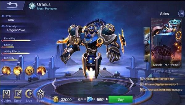 skin special uranus mech protector cyberpunk turbo titan