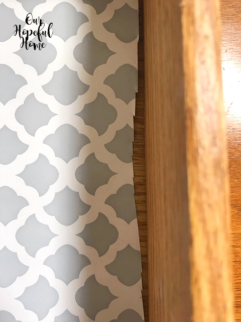 jagged cutting contact paper edge drawer liner