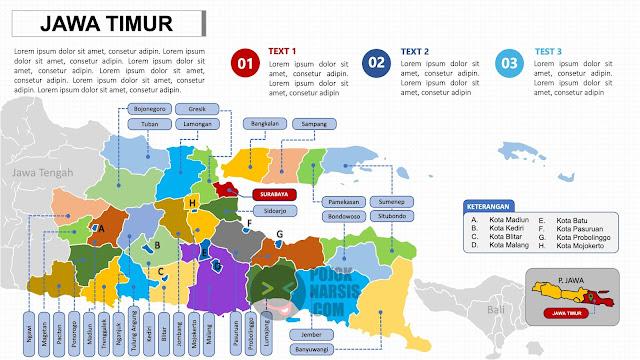 Peta Jawa Timur PPTX Powerpoint
