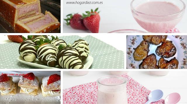 6 recetas fáciles con fresas