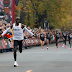 Eliud Kipchoge finishes 1Hr,59 Mins,and 40 Sec. in 26.2 mi.marathon, the fastest time in history