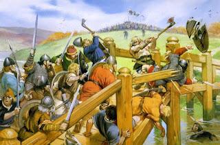 Guerrero vikingo luchando contra el ejército ingles en Stamford Bridge