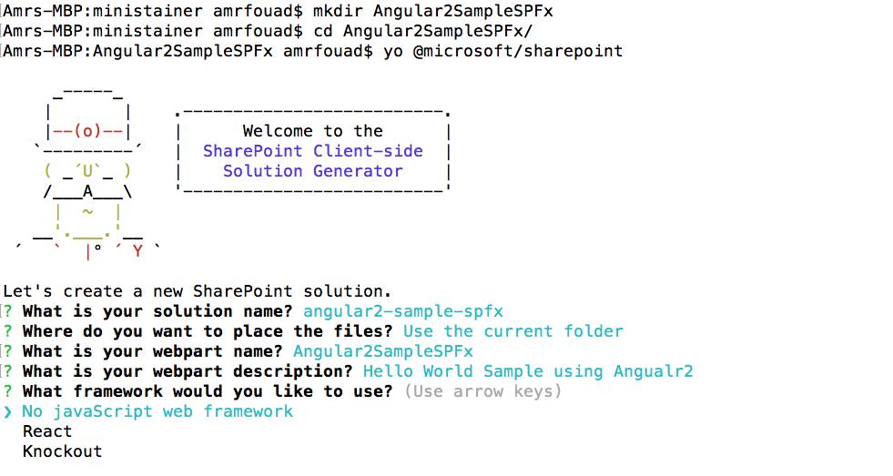 SharePoint Framework: Angular2 Sample | SharePointTweaks