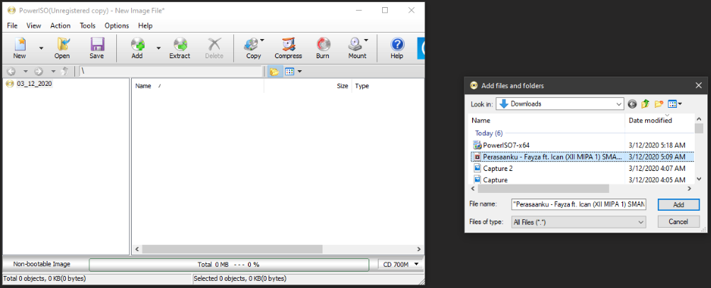 Cara Burning File ke CD/DVD dengan PowerISO