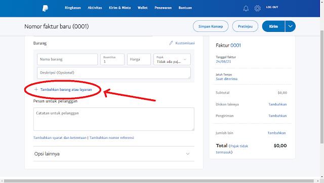 cara membuat invoice paypal