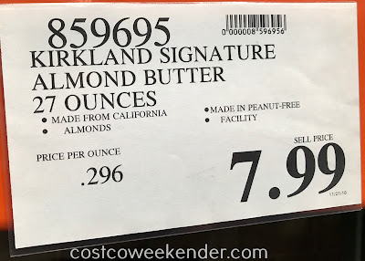 Deal for the Kirkland Signature Creamy Almond Butter at Costco