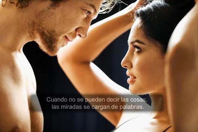 """Cuando no se pueden decir las cosas, las miradas se cargan de palabras. -Frase de """"El secreto de sus ojos""""."""