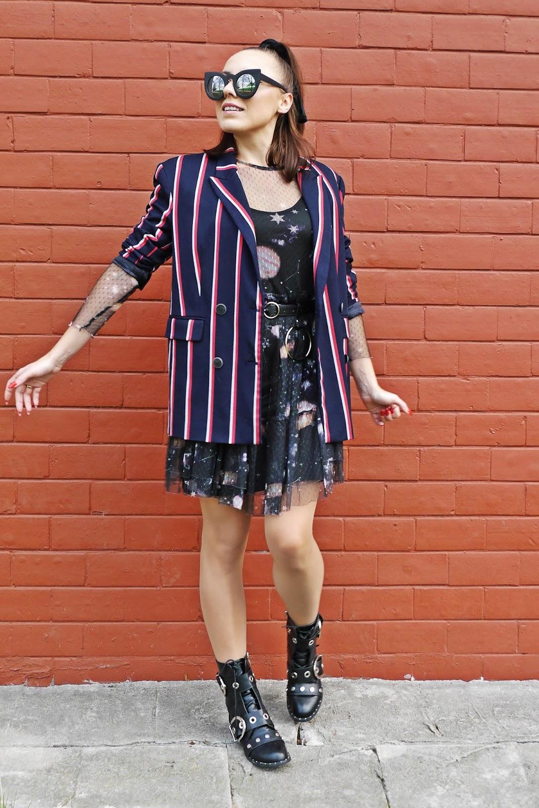puławy blog modowy blogerka modowa sukienka cropp botki czarne renee karyn