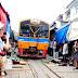 曼谷郊區/到美功鐵道市場   看神奇的火車穿越術   菜市場一秒變鐵道好神奇!