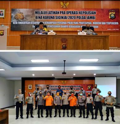Kegiatan Latihan Pra Operasi Bina Karuna Siginjai 2020, Digelar Oleh Polda Jambi