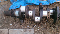 crankshaft, used, reconditioned, remanufactured, Yanmar, Marine diesel engines