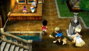 Dragon Quest VII Fragments of the Forgotten Past 3DS walking abbey