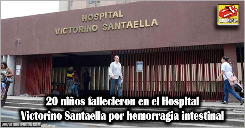20 niños fallecieron en el Hospital Victorino Santaella por hemorragia intestinal
