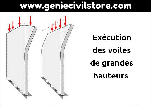 Exécution des voiles de grandes hauteurs
