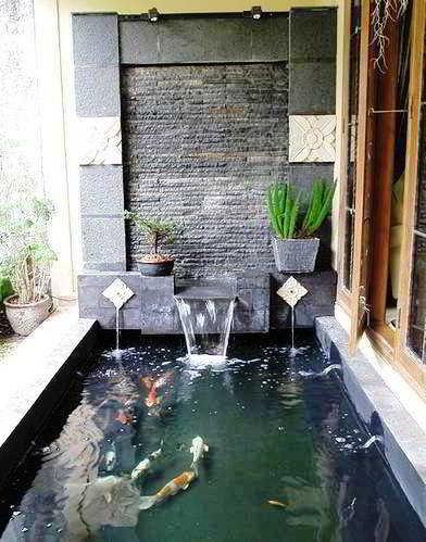 Kolam Ikan Koi Sederhana Cantik