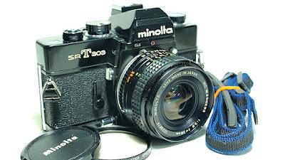 Minolta SRT-303 (Black) Body #417, Minolta MC W.Rokkor 28mm 1:2.8 #875