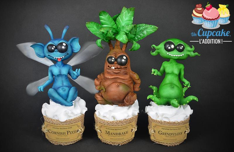 Cupcakes « Lutin de Cornouaille, Mandragore & Strangulot »