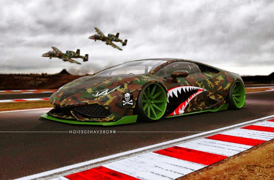 Lamborghini Huracan Black Matte A Fighter Plane By Liberty