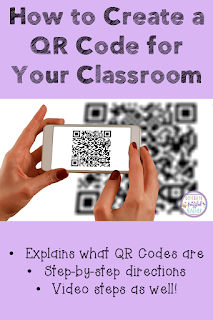 QR Codes can be used in a variety of ways in the classroom. In this blog post, teachers can first learn what they are and then how to create them in their classrooms. Learn to make QR Codes to document data or create learning centers for students. The possibilities are endless...once you know how to create them! This post also has a step-by-step video to show teachers how to make a QR Code. #confessionsofafrazzledteacher #teachers #technologytips