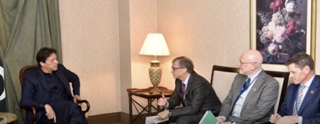PM IMRAN KHAN OF PAKISTAN HAD A CONVERSATION WITH BILLGATES