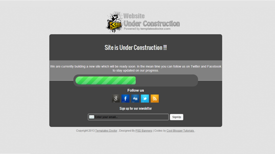 Under Construction Blogger Template