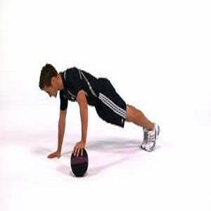 7- Medicine Ball Push Upsالطب دفع الكرة: