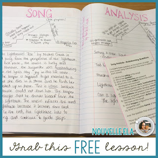 Using music in secondary ELA is a great way to increase student engagement and productivity. Check out these tips and download a freebie to get you started! By Danielle at Nouvelle ELA on the Secondary English Coffee Shop blog.