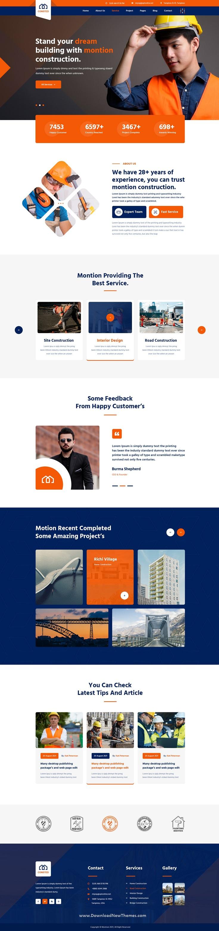 Best Construction PSD template