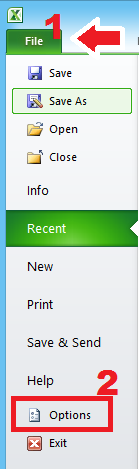 Pilih file dan options
