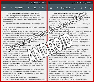 Cara menganti FONT Android dengan mudah dan banyak Pilihan
