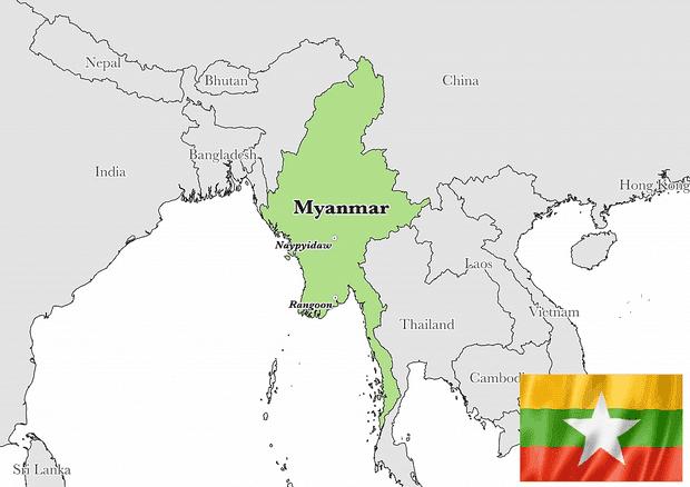 Peta Negara Myanmar Lengkap Dengan Kota Sumber Daya Alam Batas Wilayah Dan Keterangan Gambar Lainnya Geologinesia