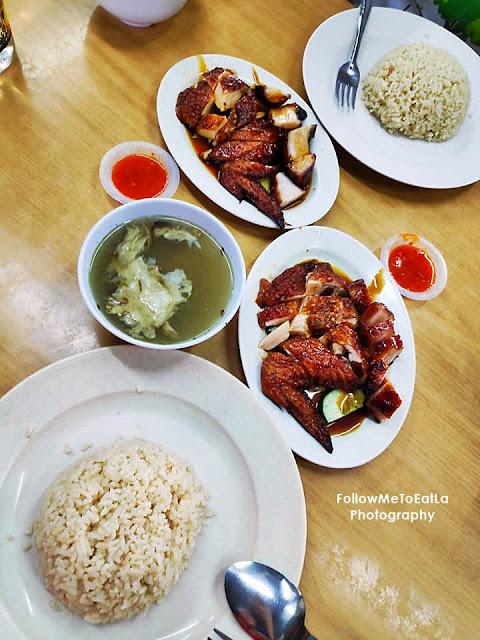 Simple But Satisfying Roast Chicken & BBQ Pork Char Siew Rice Set RM 6.50 Per Set