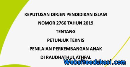Juknis Penilaian Perkembangan Anak RA 2019