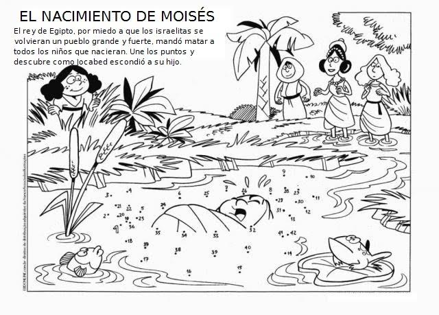 Educar con Jesús: Historia de Moisés (I) para colorear