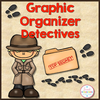 detective theme - digital graphic organizers cover