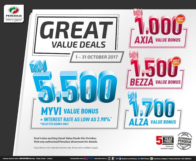 Promosi Perodua Bulan Oktober 2017 - Great Value Deals - Promosi Perodua Akhir Tahun 2017