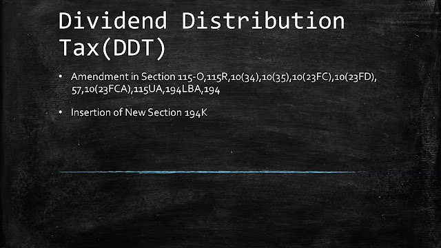 Dividend Distribution Tax(DDT):Amendment