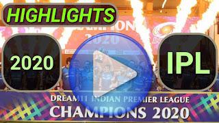 IPL 2020 Video Highlights