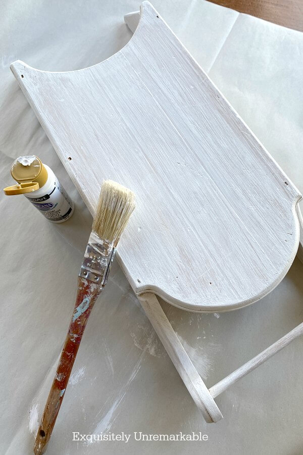 White Painted Mini Sled