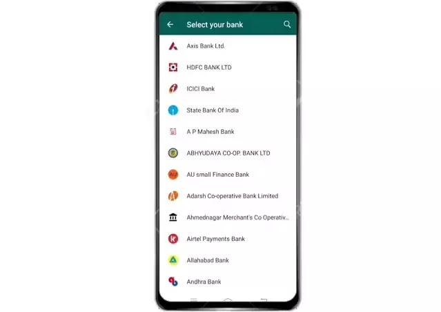 whatsapp payment Bank