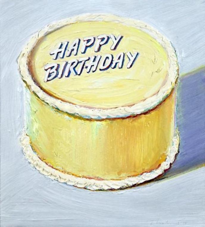 Pleasant Art Collection Wayne Thiebaud 2 Happy Funny Birthday Cards Online Benoljebrpdamsfinfo