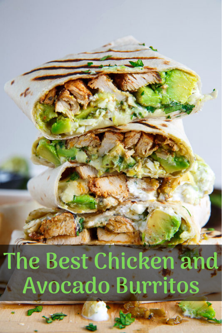 The Best Chicken and Avocado Burritos